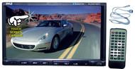 Pyle PLDN74BTI 7'' 2 Din LCD TouchScreen DVD CD MP3 Radio iPod Bluetooth Receiver