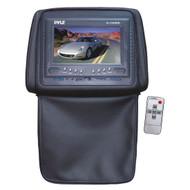 Pyle PL72HRBK Black Adjustable Headrests w/ Built-In 7'' TFT LCD Monitor W/IR Trans