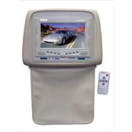 Pyle PL72HRTN Tan Adjustable Headrests w/ Built-In 7'' TFT LCD Monitor W/IR Trans