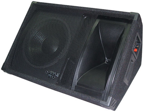 Pyle PASC12 600 Watt 12'' Two-Way Stage Monitor Speaker System DJ Pro