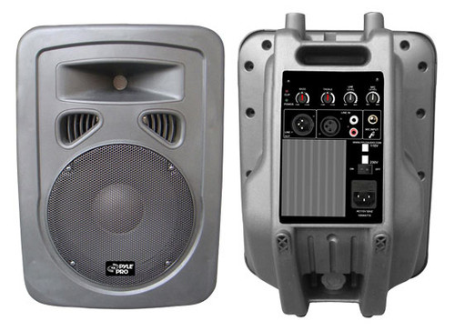 1 x  PPHP898A 400 Watts 8'' 2-Way Plastic Molded Powered/Amplified Speaker Syst