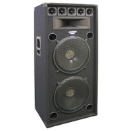 Pyle PADH52 200 Watt Dual 5'' 8-Way Stage Speaker Cabinet DJ Pro