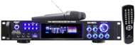PylePro PWMA1003T 1000Watts Hybrid Pre-Amplifier W/AM-FM Tuner/USB/Dual Wireless Mic