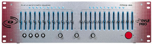 Pyle PPEQ86 Dual Channel 12 Band Graphic Equalizer