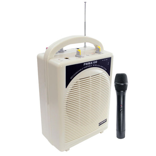 Pyle PWMA100 Rechargeable Portable PA System with Wireless MIC