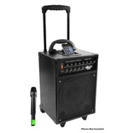 Pyle PWMA930I 600 Watt VHF Wireless Portable PA System/Echo W/iPod Dock