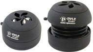 PyleHome PMS5DB Bass Expanding Rechargeable Mini Speakers Pair  Computers MP3 -Black