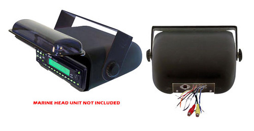 Pyle PLMRCB3 Universal Marine Stereo Housing w/Full Chassis Wired Casing Black