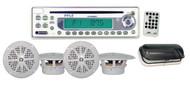 Pyle PLCD6MRKT Waterproof Marine AM/FM/CD Player Receiver W/ 4 X 5.25'' Speakers