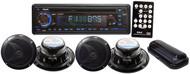 Pyle PLCD4MRKT Black Complete Marine Water Proof 4 Speaker CD USB MP3 w/ Stereo Cover