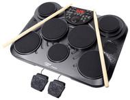 Pyle PTED01 Electronic Table Digital Drum Kit Top w/ 7 Pad Digital Drum Kit