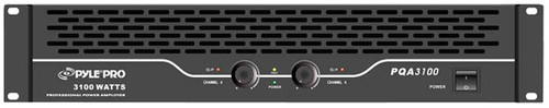Pyle PQA3100 19'' Rack Mount 3100 Watts Professional Power Amplifier