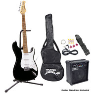 Pyle PEGKT15B Beginner Electric Guitar Package Black