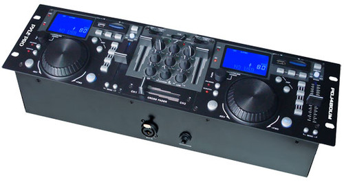 PylePro PDJ480UM Rack Mount Pro Dual DJ Controller w/ Scratch Loop Mixer USB SD Player