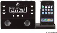 PyleHome PICL45B Black iPod iPhone Alarm Clock Speaker System W/ Radio & Remote