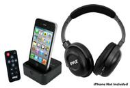 PyleHome PIH30R UHF Wireless Stereo Headphone iPhone/iPod Dock Transmitter & Remote