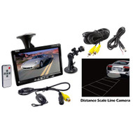 "PLCM7700 7"" Window Mount LCD Video Monitor W/ Universal Mount Backup Camera Kit"