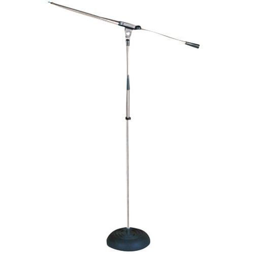 Pyle PMKS9 Heavy Duty Compact Base Boom Microphone Stand DJ Pro Audio
