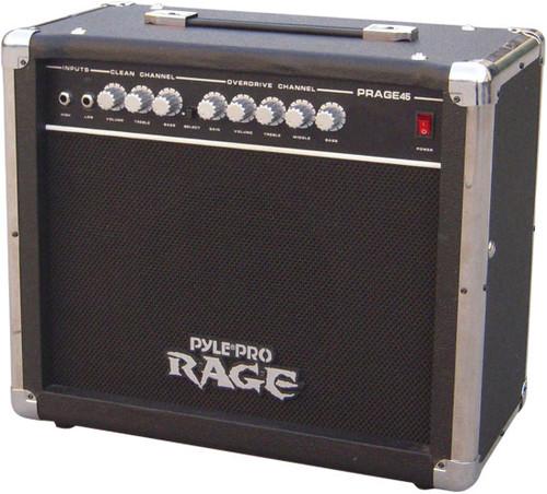 Pyle PRAGE45 45 Watt Rage-Series Electric Guitar Amplifier With Overdrive