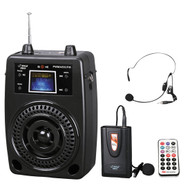 PylePro PWMA80UFM 100W Portable PA System W/Lavalier Mic FM Radio MP3 USB SD Aux-In-Out