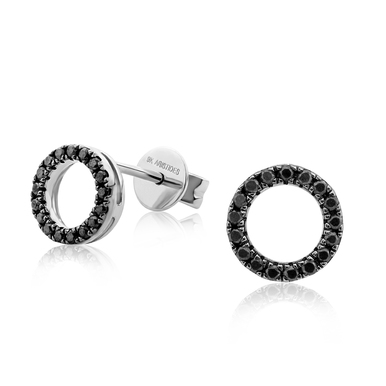Black Diamond Eclipse White Gold Earrings