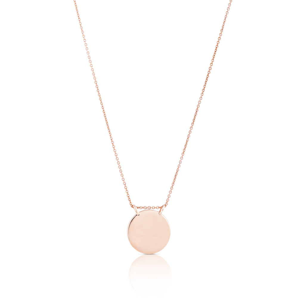 CLAIRE ARISTIDES 'STATE YOUR LOVE' DISC NECKLACE IN YELLOW GOLD