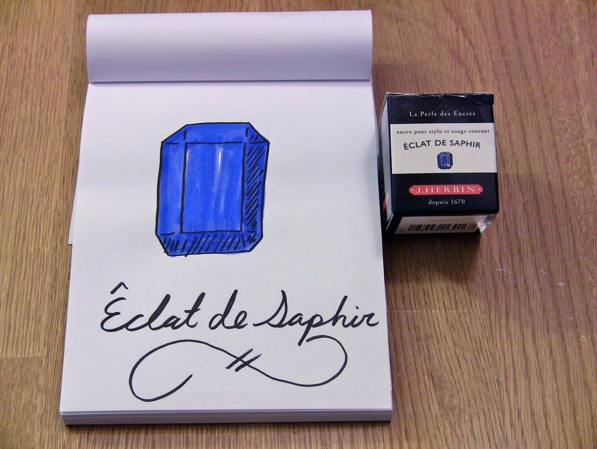 Mực J. Herbin - Màu xanh Sapphire (Êclat de Saphir) -  16 - 30ml