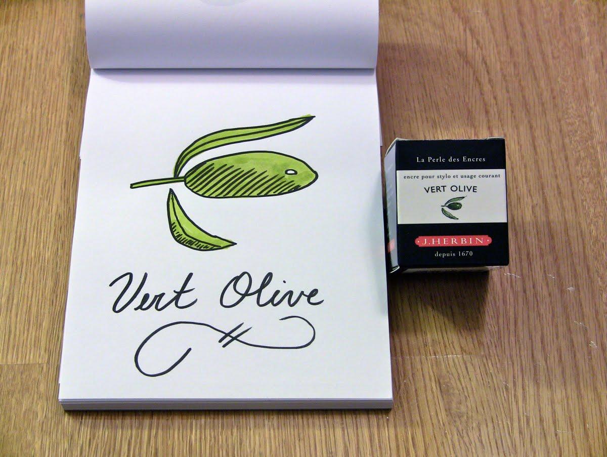 Mực J. Herbin - Màu xanh Olive (Vert Olive) -  36 - 30ml