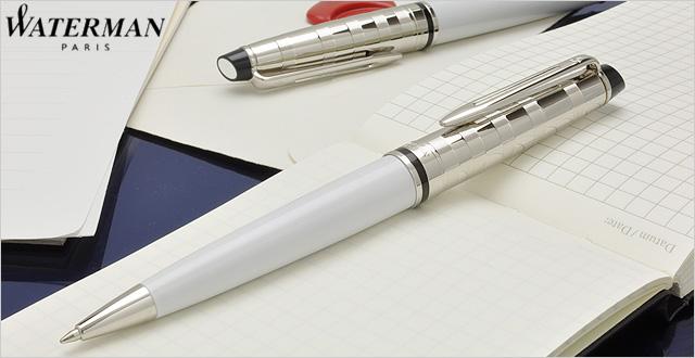 Bút Waterman EXPERT Deluxe White Ballpoint Pen CT