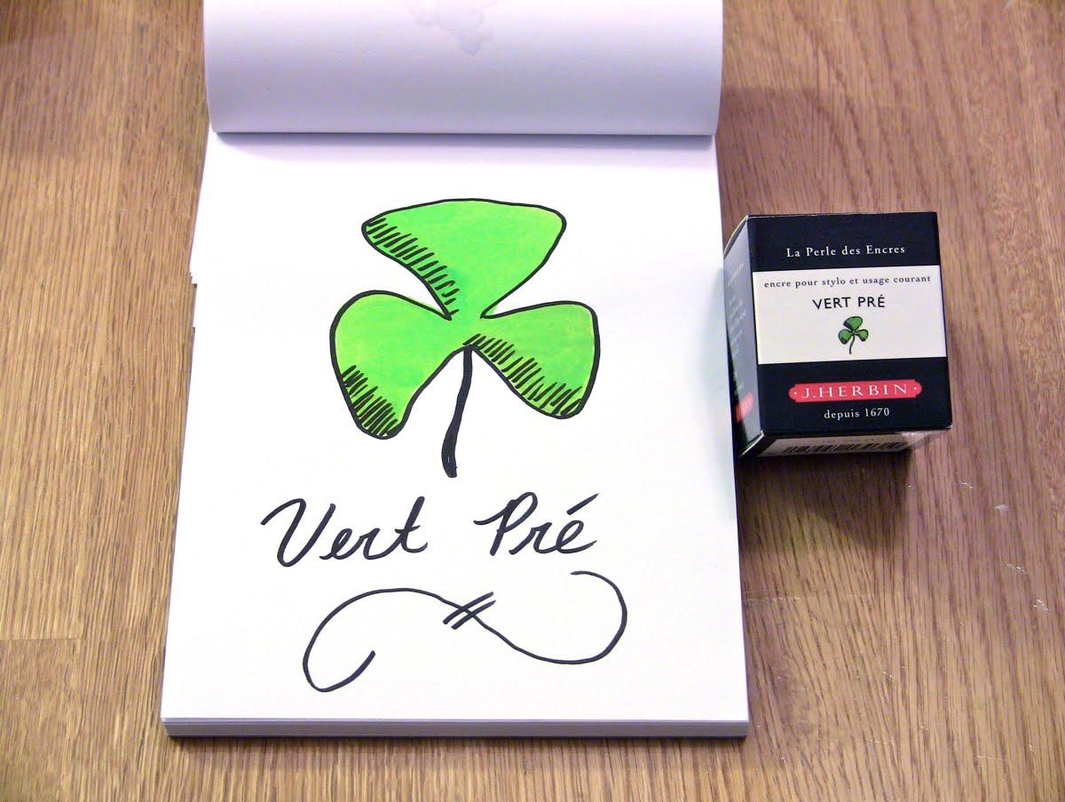 Mực J. Herbin - Màu xanh cỏ (Vert Pré) -  31 - 30ml