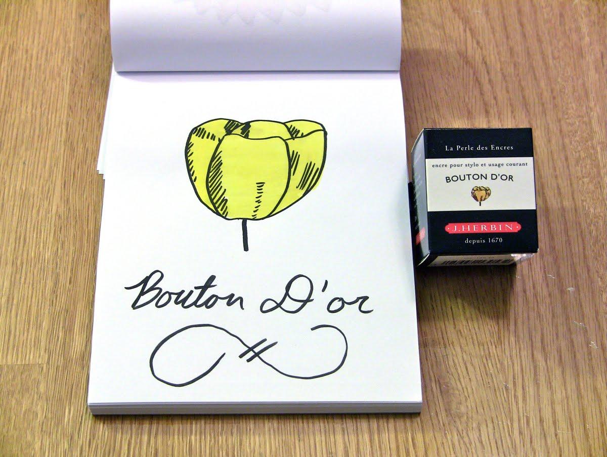 Mực J. Herbin - Màu vàng (Bouton D'or) -  53 - 30ml