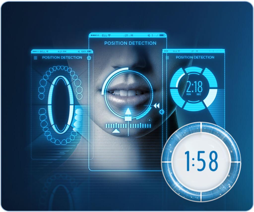 Bàn chải Oral-B Genius Pro 8000 với chức năng nhận diện vị trí