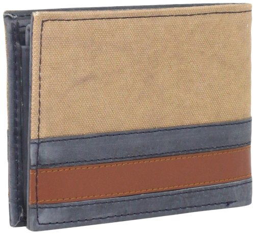 Ví nam Tommy Hilfiger Men's Exeter Passcase Billfold Wallet, màu Khaki