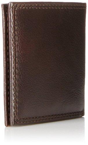 Ví nam Tommy Hilfiger Men's Leather Jerome Double Billfold Walllet - Màu Chocolate