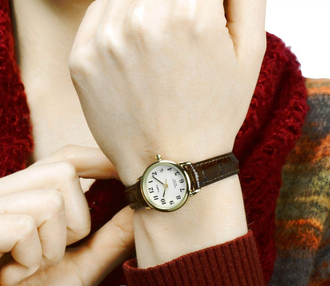 Đồng hồ Women's T20071 Easy Reader Brown Leather Strap Watch