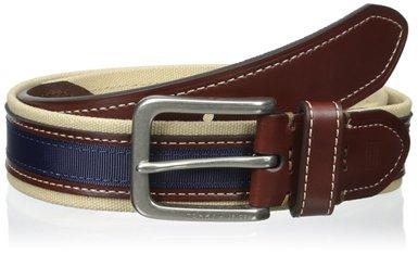 Dây lưng nam Tommy Hilfiger Men's 35mm Canvas and Ribbon Belt - Size 34
