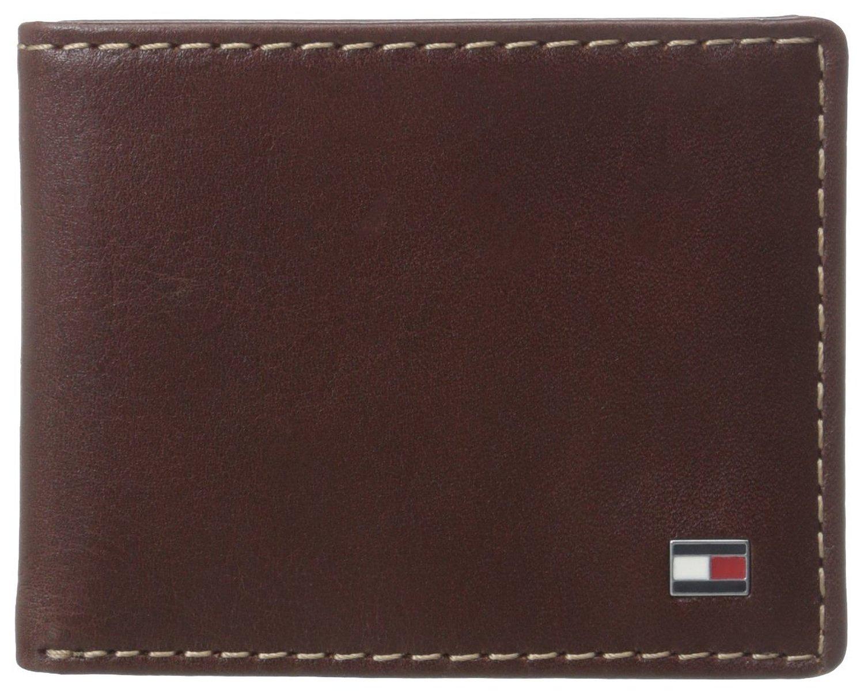 Ví nam Tommy Hilfiger Men's Logan Passcase Wallet, Tan