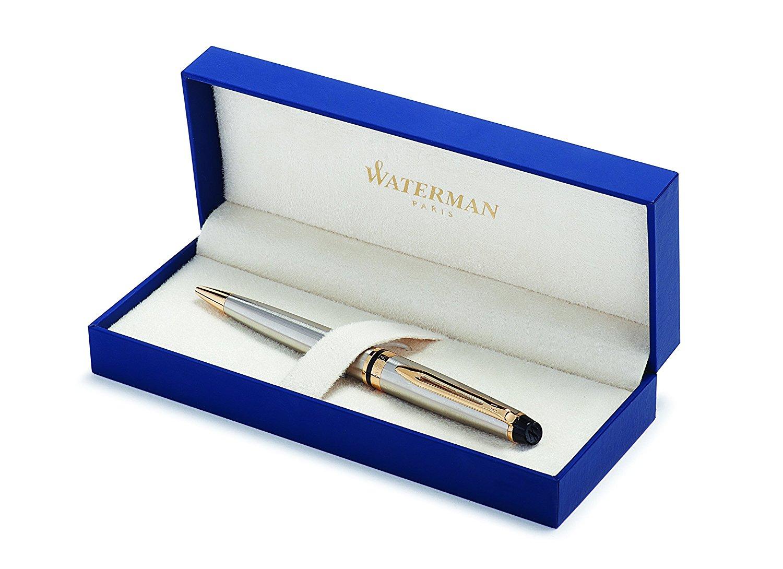 Waterman EXPERT Stainless Steel Ballpoint Pen GT
