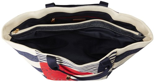 Túi xách Tommy Hilfiger Sporty Rugby Canvas Travel Tote, Navy/Natural