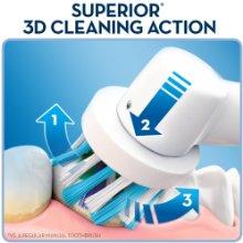 Bàn chải điện Oral B 600 giúp làm sạch răng hơn bàn chải thường