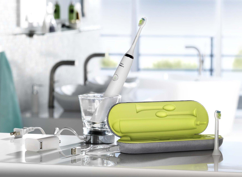 Sạch răng hơn với bàn chải điện Philips Sonicare Diamondclean White hx9332-04