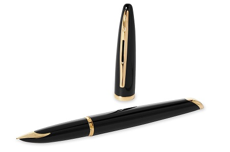 Bút Waterman Carene Black Sea Fountain Pen GT- Ngòi M - Mực xanh - S0700320