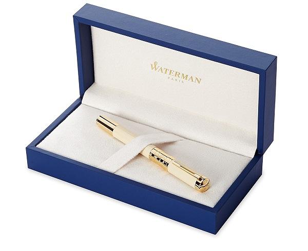 Hộp Bút Waterman Elegance Ivory Gold Trim - Ngòi M - Mực đen - S0891330