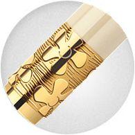 Khớp nối Bút Waterman Elegance Ivory Gold Trim - Ngòi M - Mực đen - S0891330