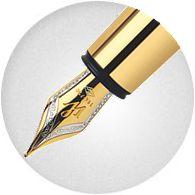 Ngòi Bút Waterman Elegance Ivory Gold Trim - Ngòi M - Mực đen - S0891330