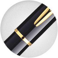 Nắp Bút Waterman Hemisphere Gold Trim - Ngòi M - Mực xanh - S0920630