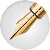Ngòi Bút Waterman Perspective Black Lacquer with Gold Trim - Ngòi F - Mực xanh - S0830800