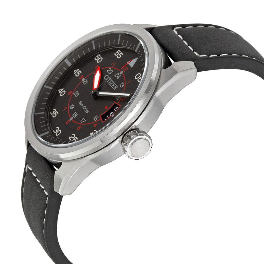 Đồng hồ Citizen Eco-Drive Sport Stainless Steel Watch with Leather Band - AW1361-01E