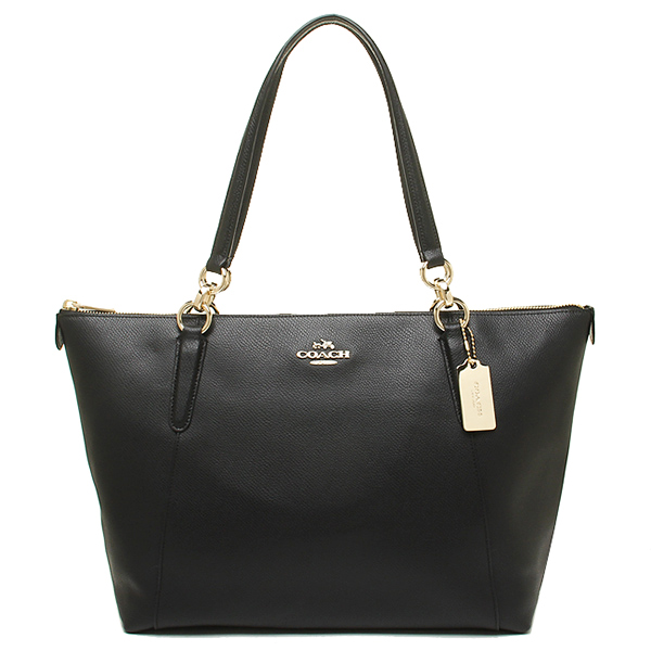 Túi Coach da mềm Coach bags outlet cross grain leather Ava Tote Bag Black F35808 IMBLK- Chính hãng