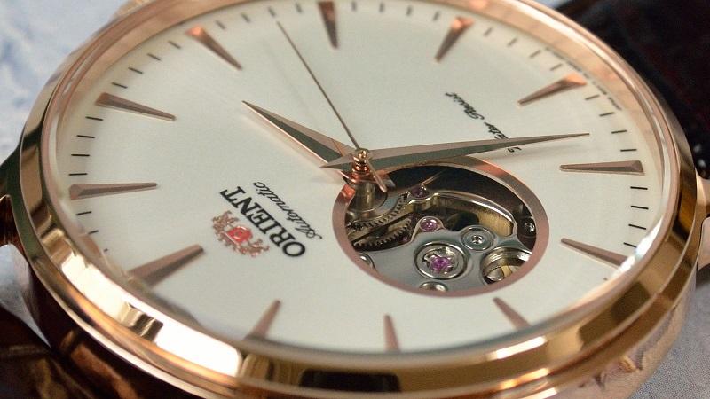 Mặt đồng hồ Orient FDB08001W0 Esteem Open Heart Dial Watch